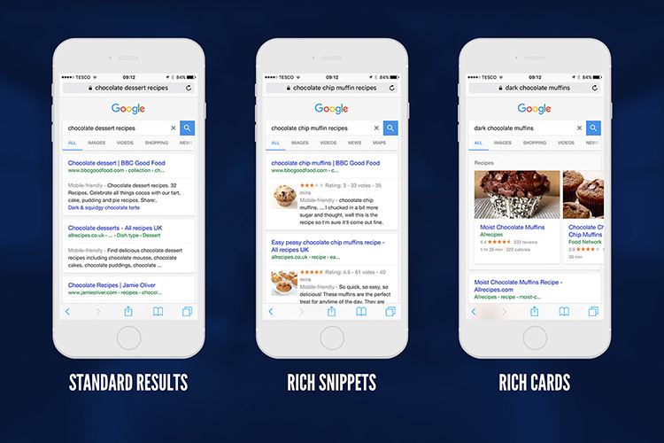 So sánh Rich Cards & Rich Snippets