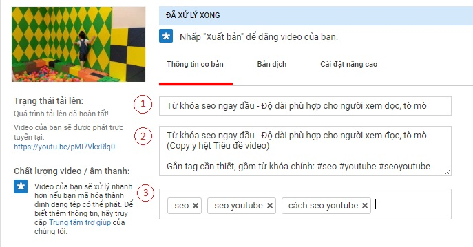 Onpage video youtube