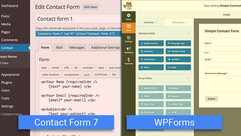 Contact Form7 vs WPForms